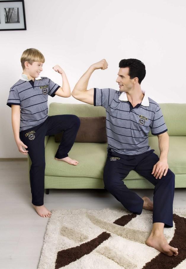 Yeni İnci Süprem 3'Lü Baba-Oğul Pijama Takımı