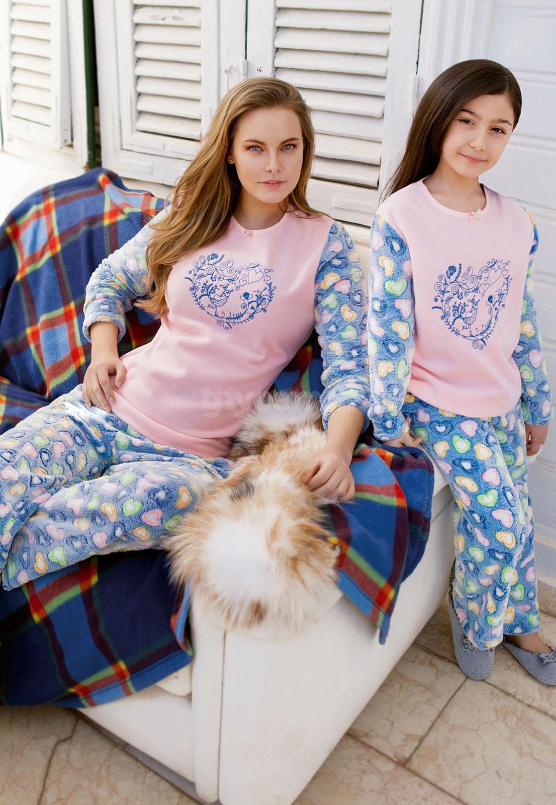 Yeni İnci BPJ800 Bayan Pijama Polar 2'Li Takım