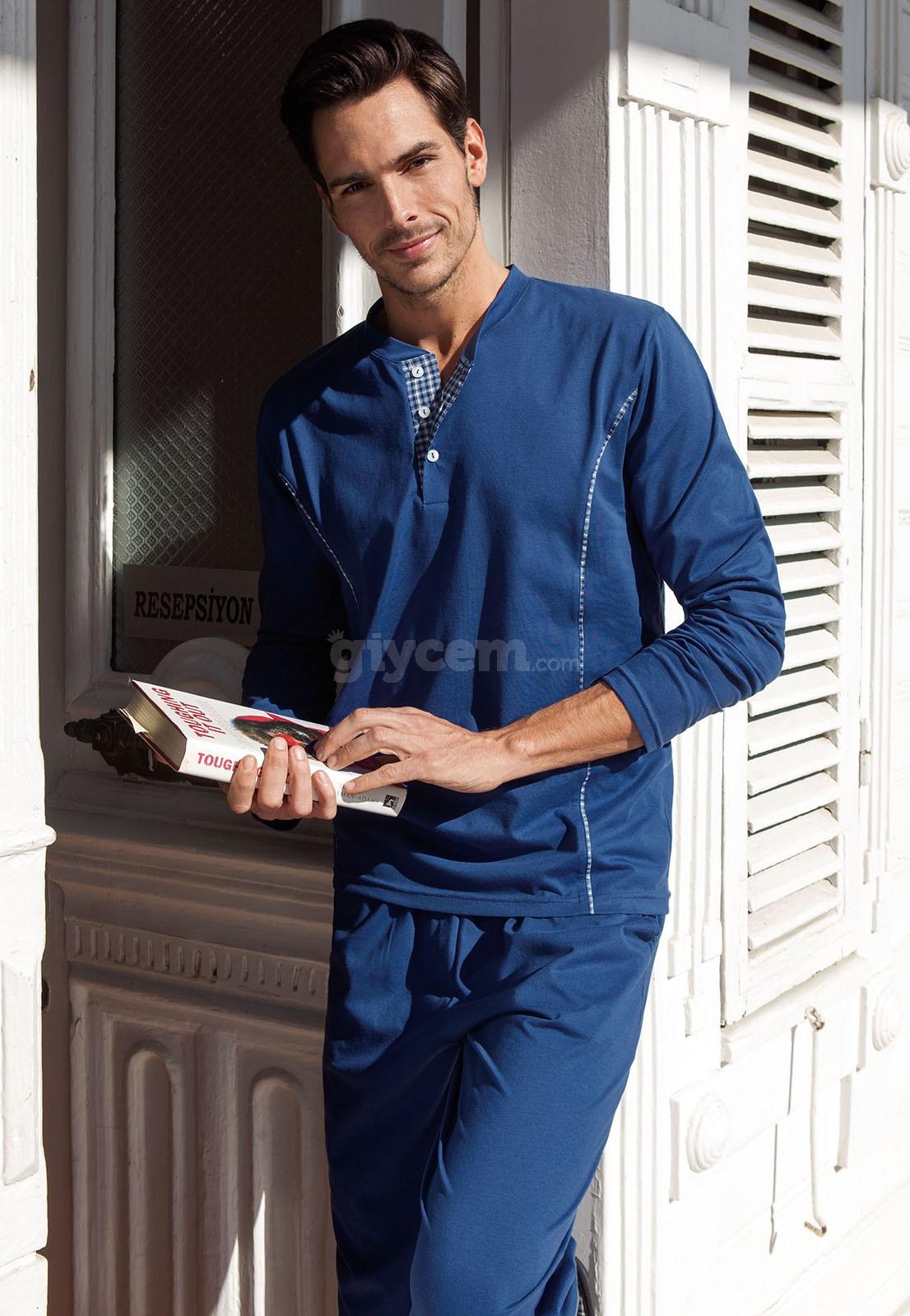 Yeni İnci EPJ452 Erkek Pijama Süprem 2'Li Takım