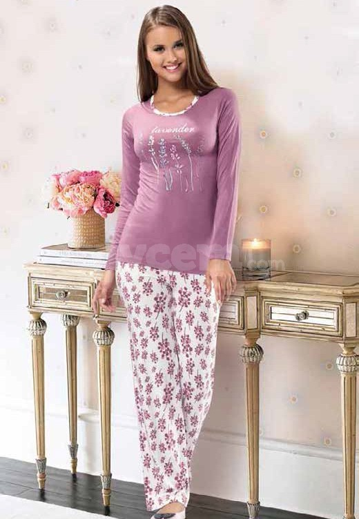 NBB 6809 Bayan Uzun Kollu Pijama Takımı